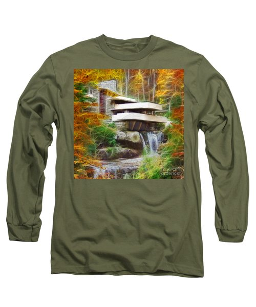 Fixer Upper - Square Version - Frank Lloyd Wright's Fallingwater Long Sleeve T-Shirt