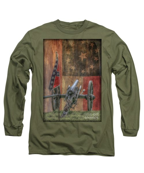 Long Sleeve T-Shirt featuring the digital art Flags Of The Confederacy by Randy Steele