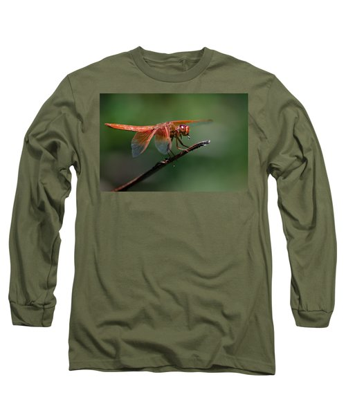 Flame Skimmer Dragonfly Long Sleeve T-Shirt