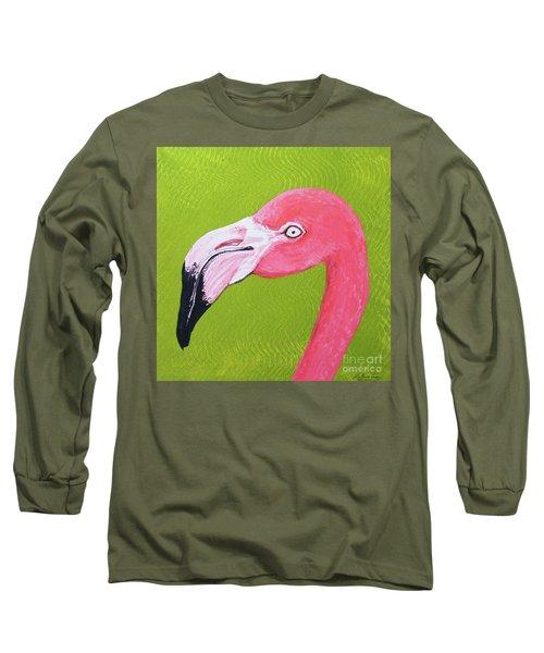 Flamingo Head Long Sleeve T-Shirt