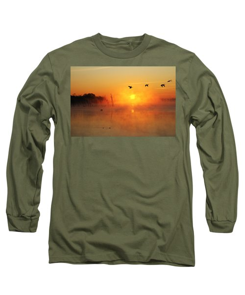 Flight At Sunrise Long Sleeve T-Shirt