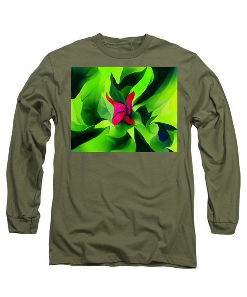 Long Sleeve T-Shirt featuring the digital art Floral Abstract Play by David Lane