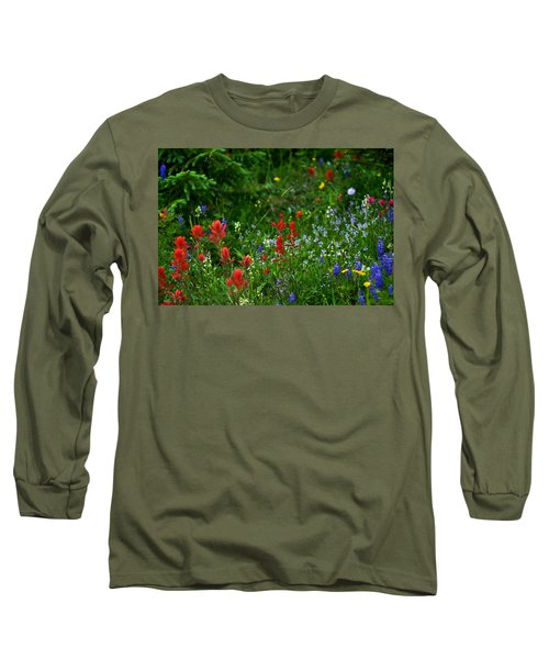 Floral Explosion Long Sleeve T-Shirt by Jeremy Rhoades