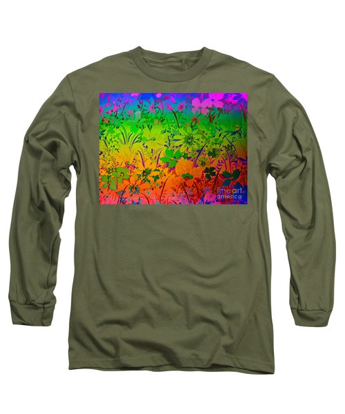 Long Sleeve T-Shirt featuring the photograph Floral Rainbow by Judy Palkimas