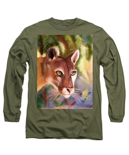 Florida Panther Long Sleeve T-Shirt by Renee Michelle Wenker
