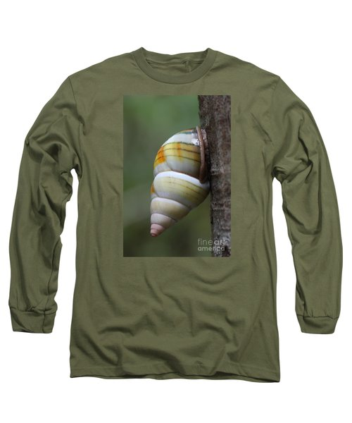 Long Sleeve T-Shirt featuring the photograph Florida Tree Snail by Paul Rebmann