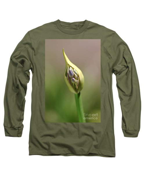 Flower-agapanthus-bud Long Sleeve T-Shirt