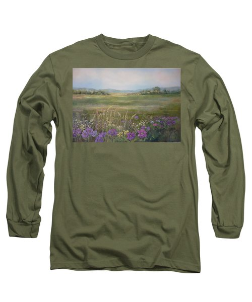 Flower Field Long Sleeve T-Shirt
