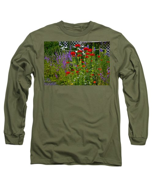 Flower Garden Long Sleeve T-Shirt by Johanna Bruwer