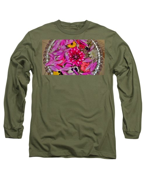 Long Sleeve T-Shirt featuring the photograph Flower Offerings - Jabalpur India by Kim Bemis