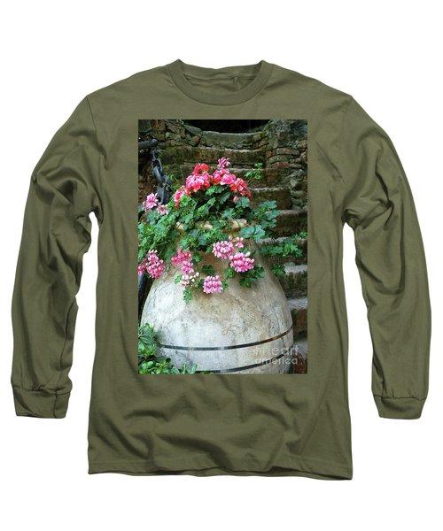 Long Sleeve T-Shirt featuring the photograph Flower Pot 8 by Allen Beatty