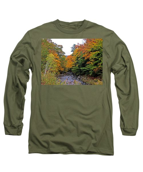 Flowing Into October Long Sleeve T-Shirt by MTBobbins Photography