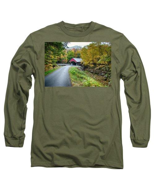 Flume Gorge Covered Bridge Long Sleeve T-Shirt