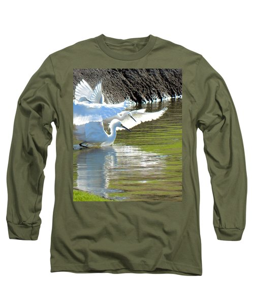 Long Sleeve T-Shirt featuring the photograph Flurry by Deb Halloran