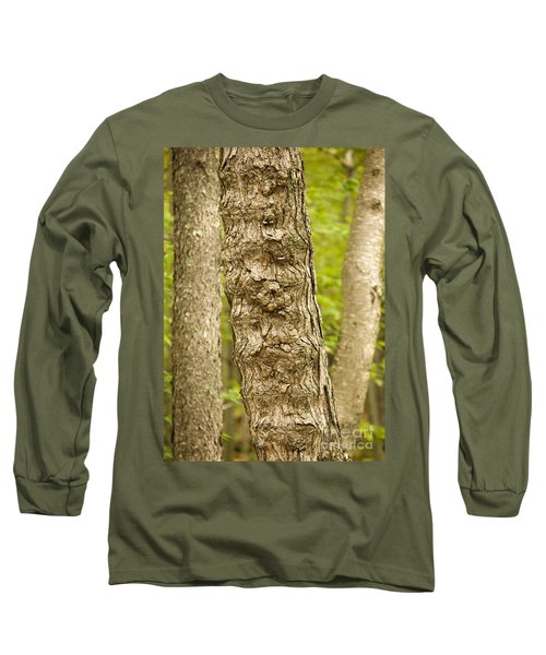 Fluted Tree Long Sleeve T-Shirt by Carol Lynn Coronios