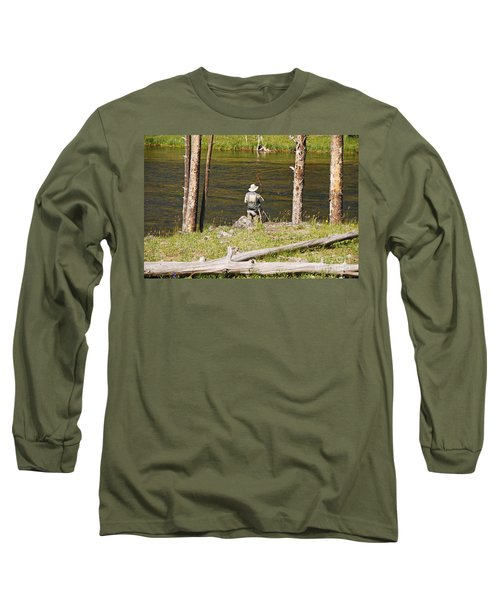 Fly Fishing Long Sleeve T-Shirt by Mary Carol Story
