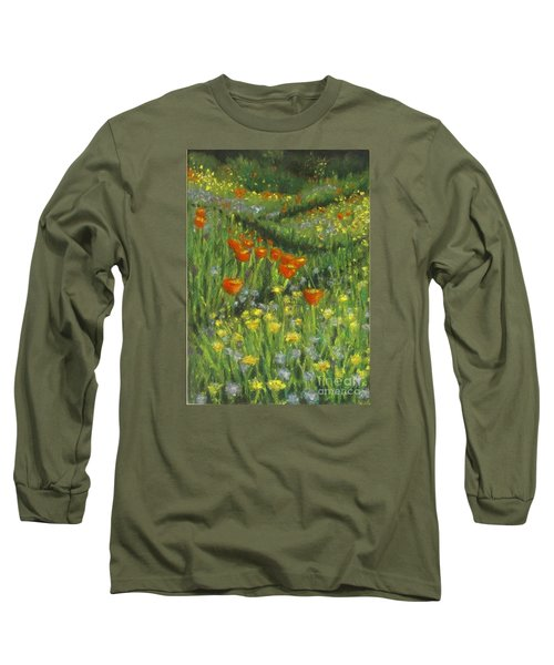 Poppy Trail Long Sleeve T-Shirt by Laurie Morgan