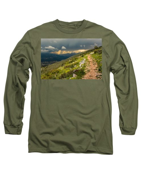 Foot Path Into The French Alps Long Sleeve T-Shirt