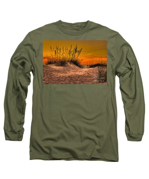 Footprints In The Sand Long Sleeve T-Shirt by Marvin Spates