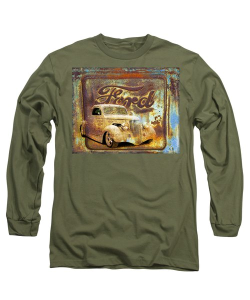 Ford Coupe Rust Long Sleeve T-Shirt by Steve McKinzie