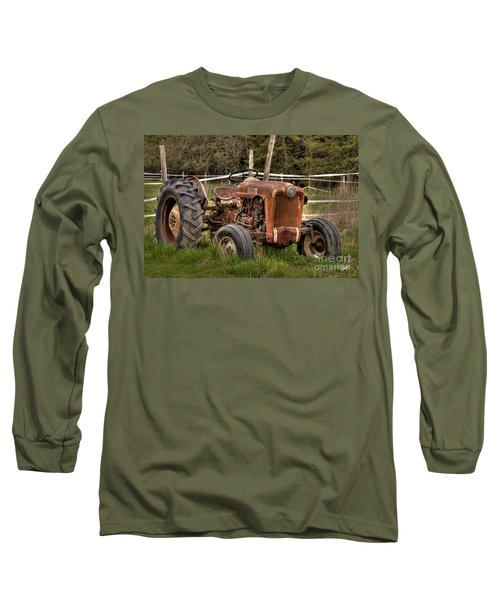 Ford Tractor Long Sleeve T-Shirt by Alana Ranney