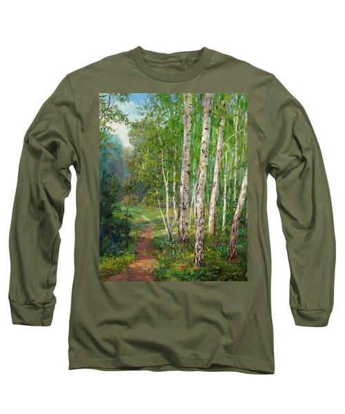 Russian Forest Footpath Long Sleeve T-Shirt