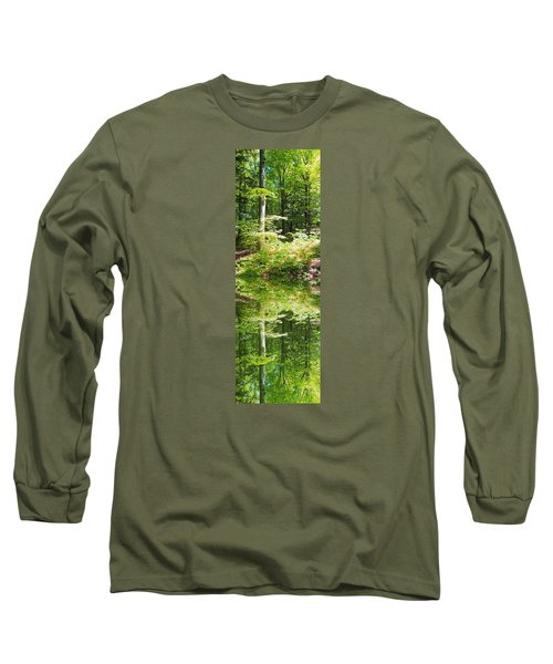 Forest Reflections Long Sleeve T-Shirt by John Stuart Webbstock