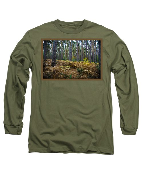 Long Sleeve T-Shirt featuring the photograph Forest Trees by Maj Seda