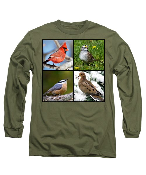 Long Sleeve T-Shirt featuring the photograph Four Seasons Birds Square by Christina Rollo
