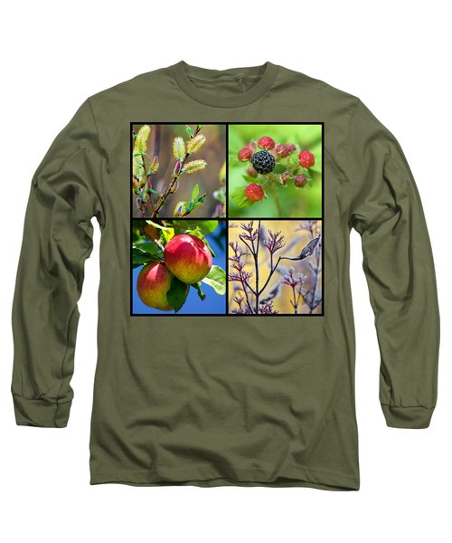 Long Sleeve T-Shirt featuring the photograph Four Seasons Plants Square by Christina Rollo