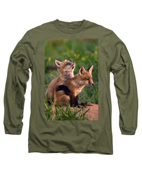 Fox Cub Buddies Long Sleeve T-Shirt