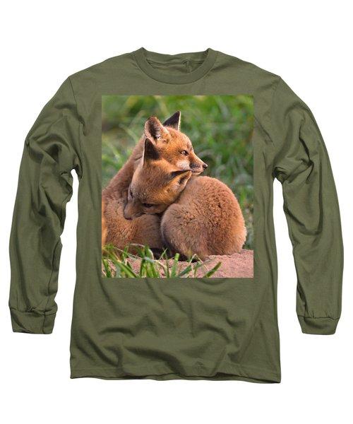 Fox Cubs Cuddle Long Sleeve T-Shirt