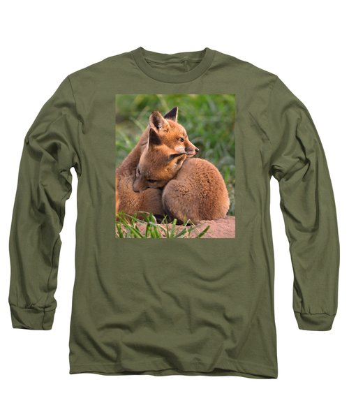 Fox Cubs Cuddle Long Sleeve T-Shirt