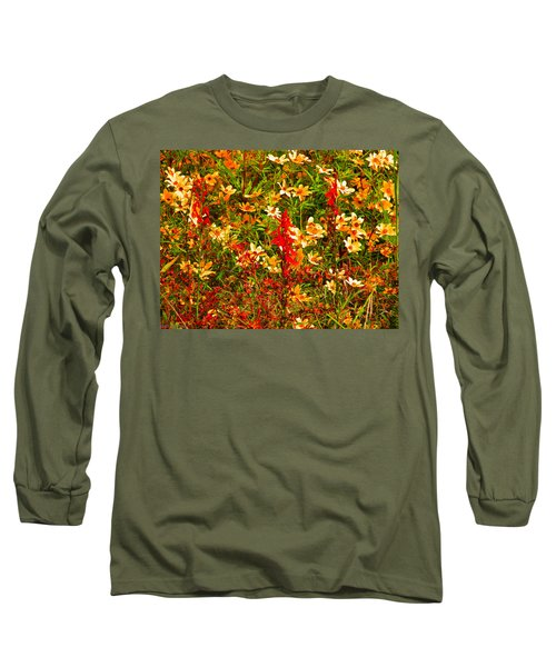 Foxfire 1 Long Sleeve T-Shirt by Nick Kirby