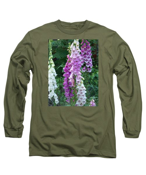 Foxglove After The Rains Long Sleeve T-Shirt by Eunice Miller