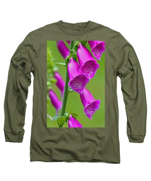 Foxglove Digitalis Purpurea Long Sleeve T-Shirt
