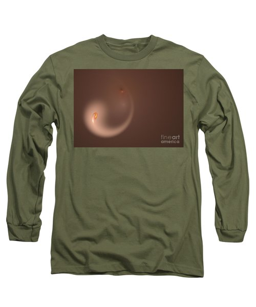 Long Sleeve T-Shirt featuring the digital art Fractal Orange Flair by Henrik Lehnerer