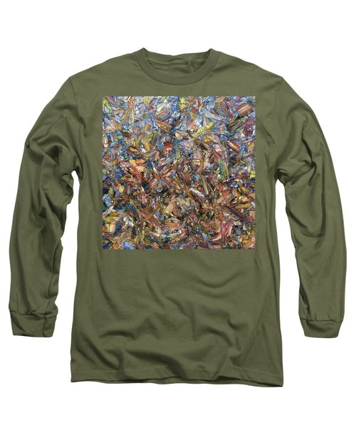 Long Sleeve T-Shirt featuring the painting Fragmented Fall - Square by James W Johnson