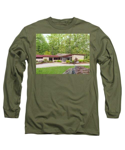 Frank Lloyd Wright At Duncan House Long Sleeve T-Shirt by Albert Puskaric