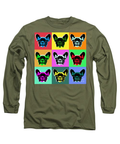 French Bulldog Long Sleeve T-Shirt by Jean luc Comperat