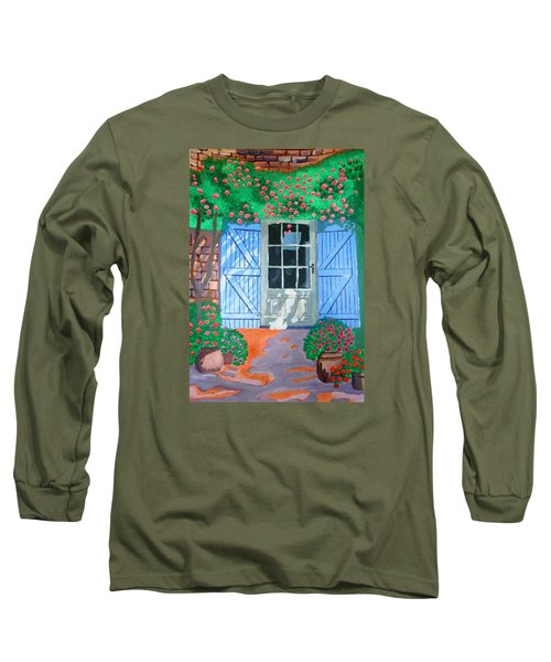 French Farm Yard Long Sleeve T-Shirt by Magdalena Frohnsdorff