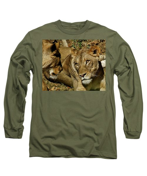 Long Sleeve T-Shirt featuring the photograph Friends by Jean Goodwin Brooks
