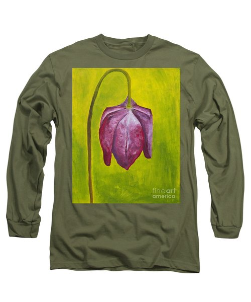 Fritillary Flower Long Sleeve T-Shirt by Lana Enderle
