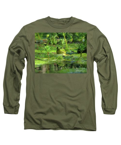 Frog Long Sleeve T-Shirt by Douglas Stucky
