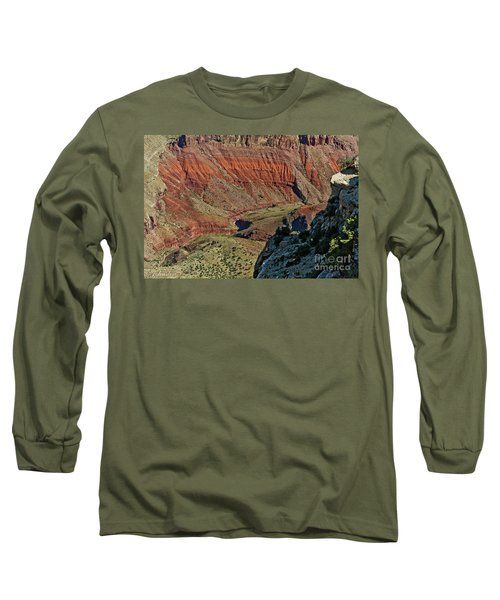 Long Sleeve T-Shirt featuring the photograph From Yaki Point 5 Grand Canyon by Bob and Nadine Johnston