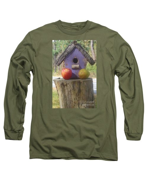 Fruity Home? Long Sleeve T-Shirt by Christina Verdgeline