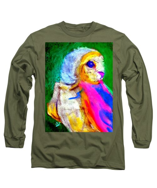 Funky Barn Owl Art Print Long Sleeve T-Shirt