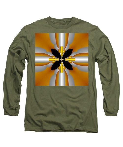 Long Sleeve T-Shirt featuring the digital art Futuristic by Svetlana Nikolova