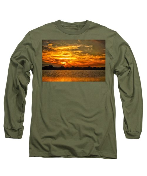 Galveston Island Sunset Dsc02805 Long Sleeve T-Shirt by Greg Kluempers