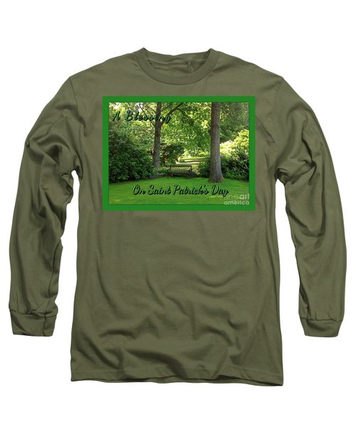 Garden Bench On Saint Patrick's Day Long Sleeve T-Shirt